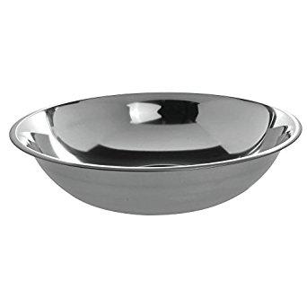 HUBERT Mixing Bowl 10 Quart 24 Gauge Stainless Steel - 15 1/4