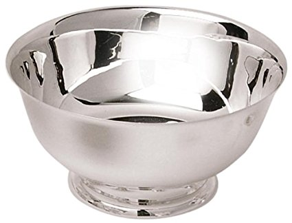 Eastern Tabletop 7006 6-Inch Stainless Steel Classic Paul Revere Bowls, 1/2-Quart