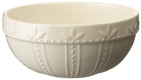 Signature Housewares Sorrento Collection 60-Ounce Small Mixing Bowl, Ivory Antiqued Finish