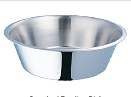 Stainless Steel Dog Bowl Round - 2 Quart (12pack)