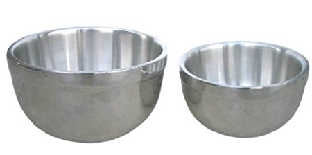 Universal Housewares 2 Piece German Stainless Steel Double Wall Bowl Set