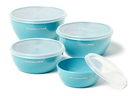 KitchenAid small plastic set of 4 Prep Bowls with Lids