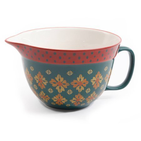 The Pioneer Woman 2.83-Quart Batter Bowl, Actual Color : VINTAGE GEO (1)