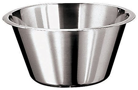 Paderno World Cuisine 8 5/8 Inch Stainless Steel Flat Bottom Mixing Bowl
