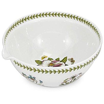 Portmeirion Botanic Garden Mixing Bowl With Spout 5 Qt