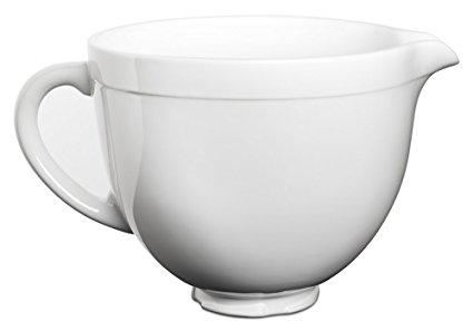 KitchenAid KSMCB5LW 5-Qt. Tilt-Head Ceramic Bowl - White Chocolate