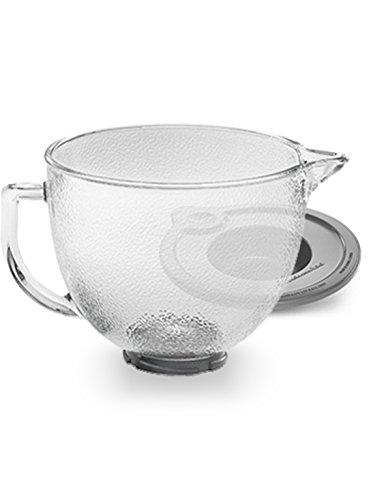 KitchenAid K5GBH Tilt-Head Hammered Glass Bowl with Lid, 5-Quart