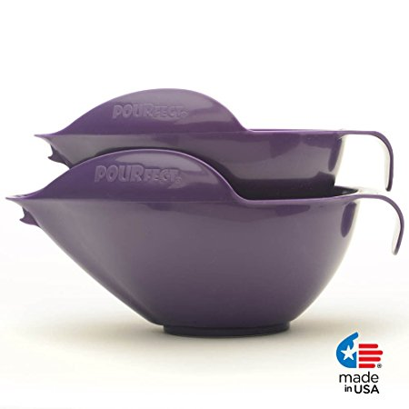 POURfect Mixing Bowls 1010 - 6 & 8 Cups - Dark Plum / Purple
