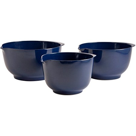 Gourmac 3 Piece Melamine Mixing Bowl Set, Cobalt Blue