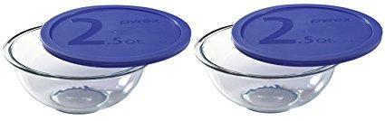 World Kitchen Pyrex Smart Essentials Mixing Bowl, 2-1/2-Quart (Pack of 2 Bowls)