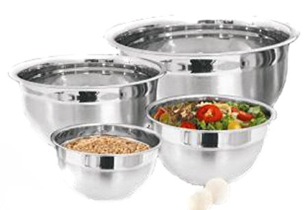 The Platinum Chef Stainless Steel Mixing Bowls, Set of 4
