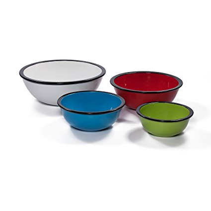 Ovenex 4 Piece Ceramic Mixing Bowl Set (Rainbow)