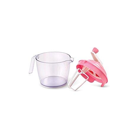 Bakelicious 73851 Cupcaker Batter Bowl And Mixer, Pink