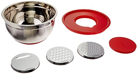 Cuisinart CTG-00-MBGR Mixing Bowl with Graters, Red
