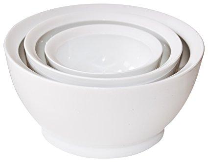 CaliBowl Ultimate Mixing Bowl Set, 1-20oz, 1-40oz, 1-95oz-White