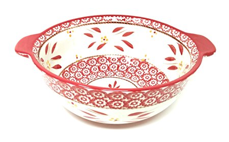 Temp-tations Mixing or Serving Bowl 3 Qt Replacement (Old World Red)