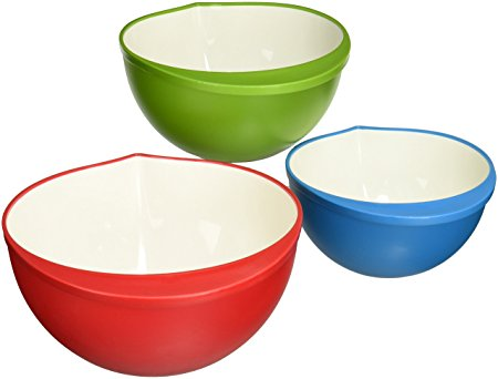 Trudeau Set of 3 Mixing Bowls, 2-Tone Color