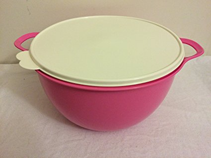 Tupperware Thatsa Bowl Huge BIG Bowl Mega 42 Cups HOT Pink