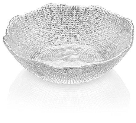 IVV Glassware Diamante Salad/Mixing Bowl, 11-Inch